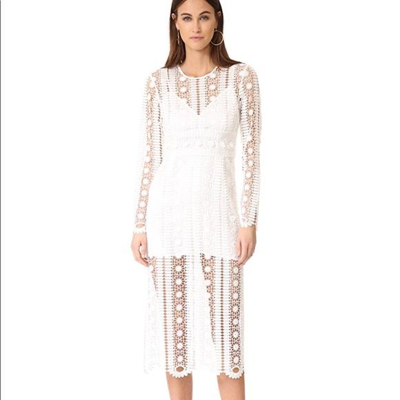Alice Mccall Dresses White Midi Dress Wedding Shower Poshmark
